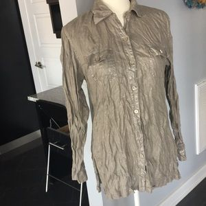 Chico's Crinkled Linen Shirt